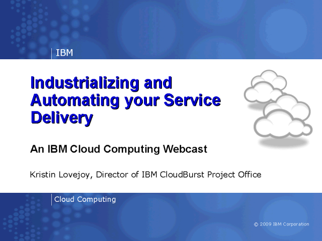 Industrializing & Automating The Way You Deliver Services