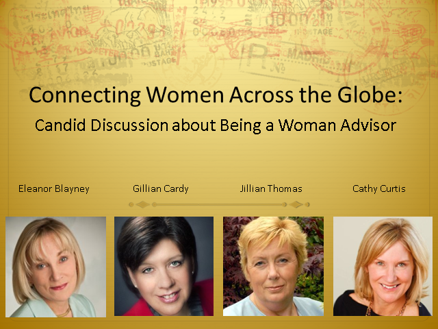 Connecting Women Across the Globe: Candid Discussion about Being a Woman Advisor