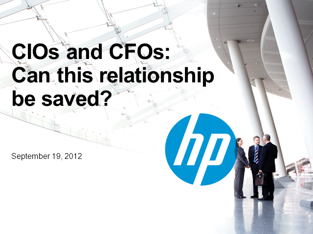 CIOs and CFOs: Can this relationship be saved?