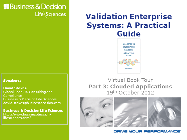 Virtual Book Tour: Validating Clouded Applications