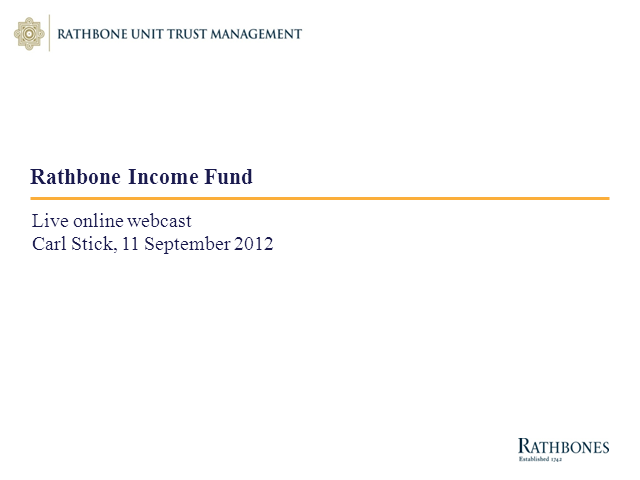 Rathbone Income Fund