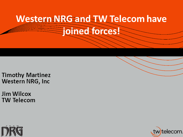 TeamNRG Joins Forces with TW Telecom