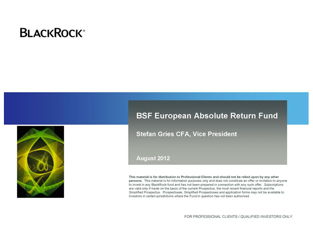 BSF European Absolute Return Fund - Update call mit Stefan Gries