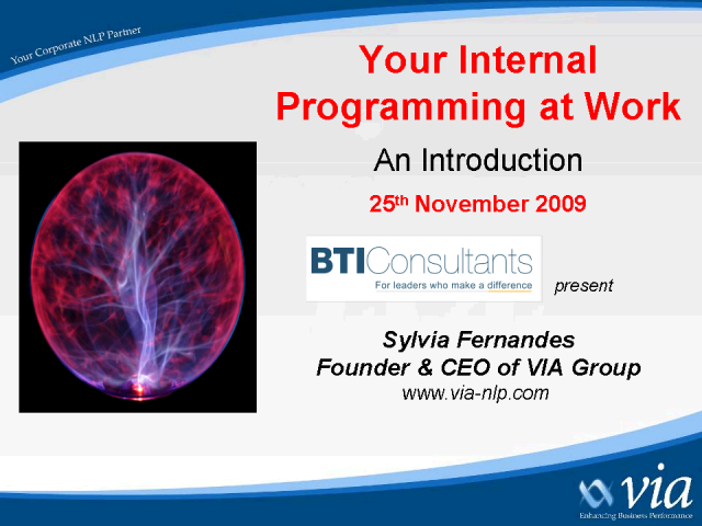 Your Internal Programming at work  – An Introduction