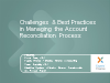 Challenges & Best Practices in Managing the Account Reconciliation Process