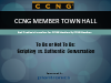 To Be or Not To Be: Scripting vs Authentic Conversation, a CCNG Member Town Hall