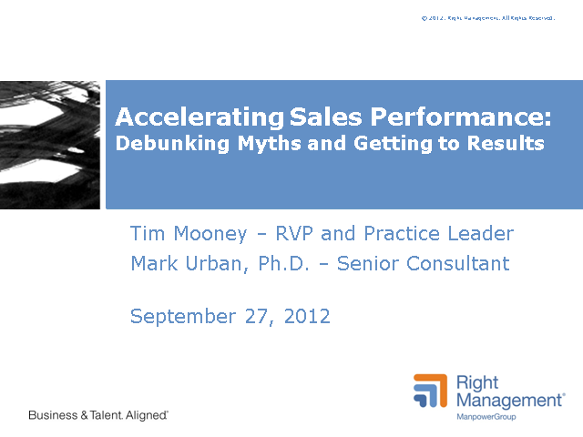 Accelerating Sales Performance