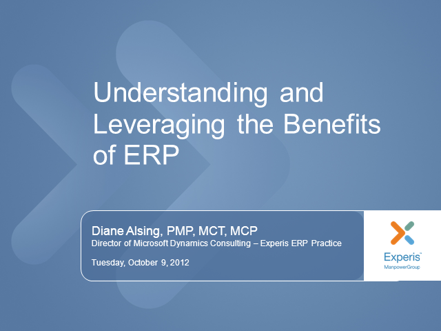 Understanding and Leveraging the Benefits of ERP