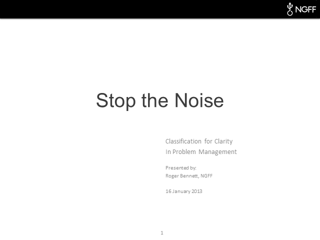 """Stop the Noise"" or Classify for Clarity"