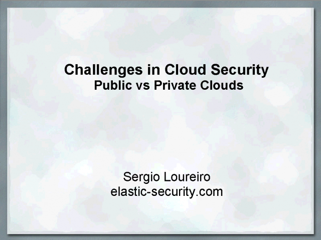 Cloud Security: Is the glass half empty or half full?