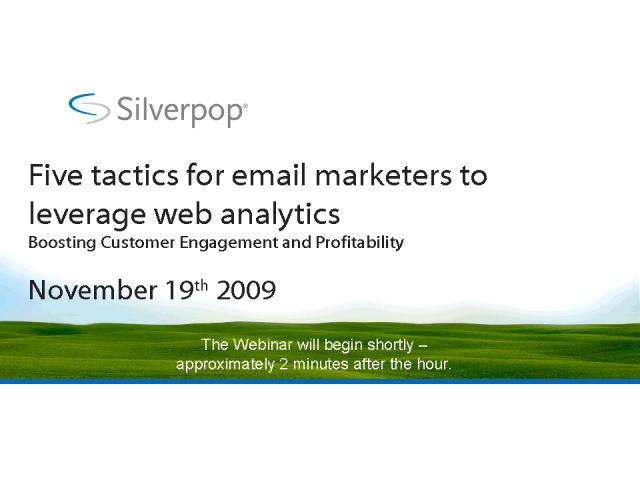 Five tactics for email marketers to leverage web analytics