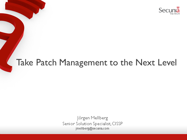 Take Patch Management to the Next Level