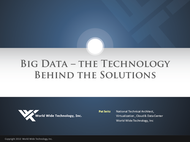 Big Data – The Technology Behind the Solutions