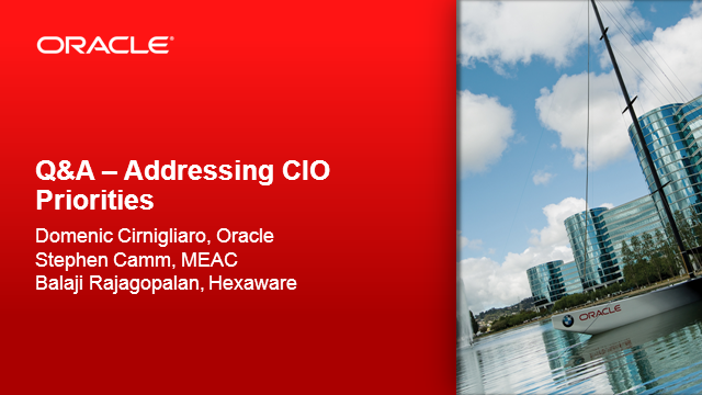 IT leaders: Q&A with Oracle experts