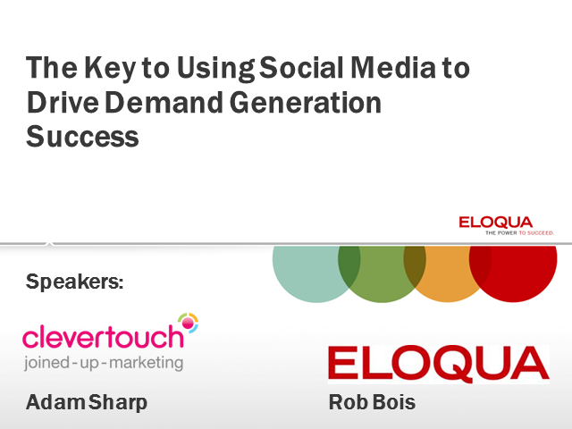 The Key to Using Social Media to Drive Demand Generation Success