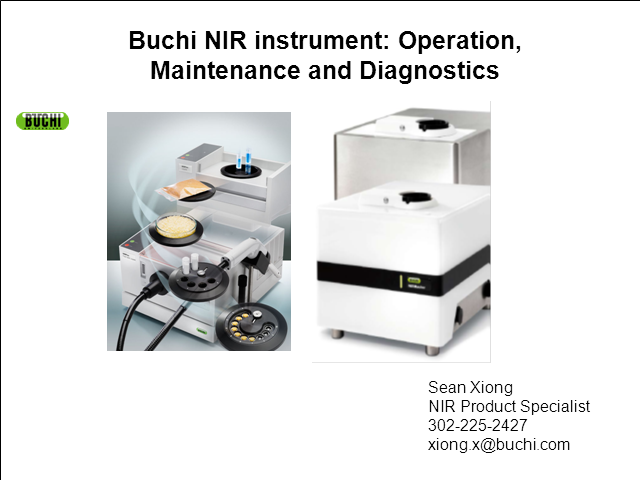 NIR instruments: Operation, Maintenance and Diagnostics