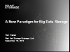 A New Paradigm for Big Data Storage