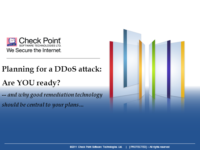 Planning for a DDoS attack: Are YOU ready?