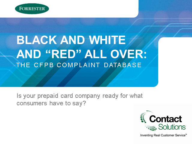 "Black and White and ""Red"" All Over: The CFPB Complaint Database"