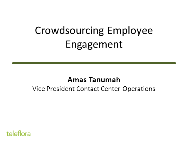 Crowdsourcing Employee Engagement