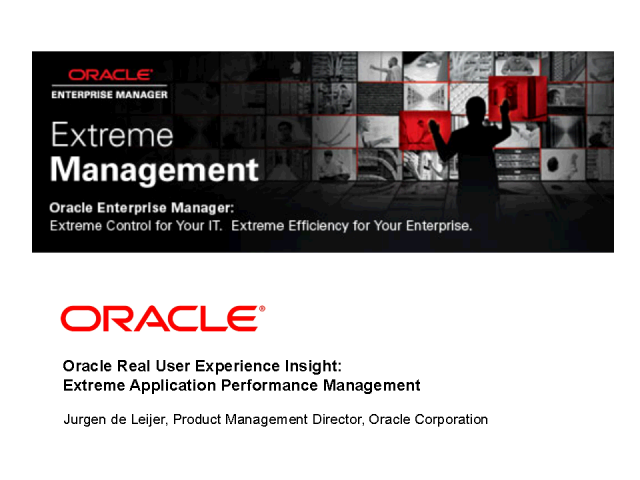 Extreme Application Performance Management
