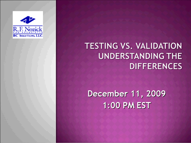 Testing vs. Validation: Understanding The Differences