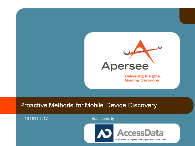 Proactive Methods for Mobile Device Discovery