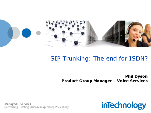 SIP Trunking - IP Telephony using your existing PBX