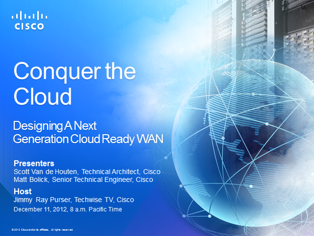 Designing a Next-Generation, Cloud-Ready WAN