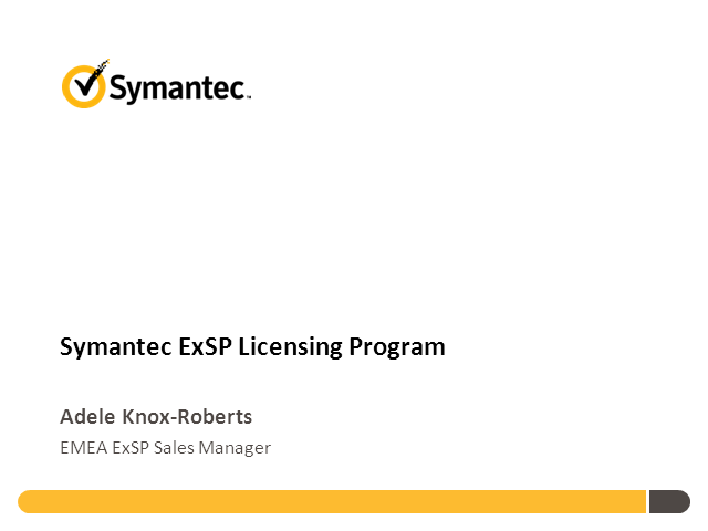 Symantec ExSP Licensing Program
