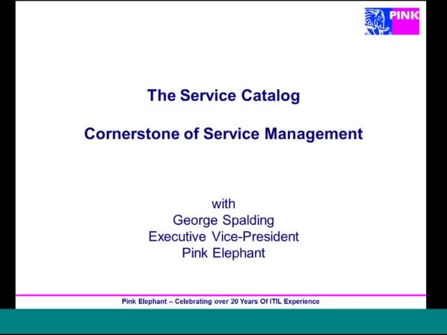Service Catalog Essentials with Pink Elephant & Biomni