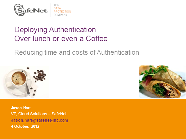 The Authentication Service 30 minute challenge