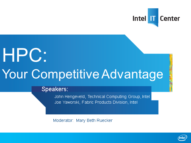 HPC – Your Competitive Advantage