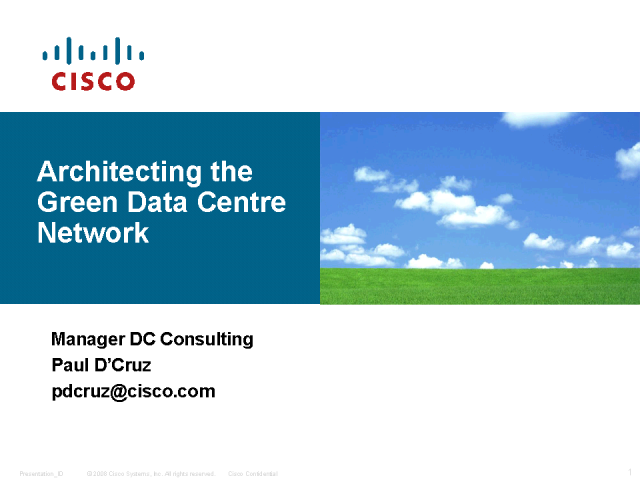 Architecting The Green Data Centre