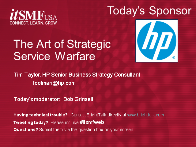 The Art of Strategic Service Warfare