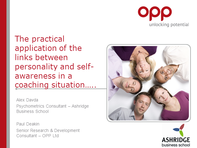 Exploring links between personality and self-awareness in a coaching situation