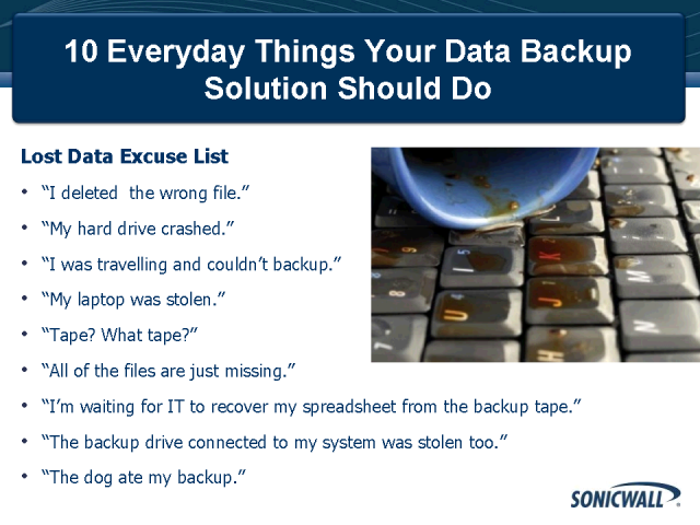 10 Everyday Things Your Data Backup Solution Should Do