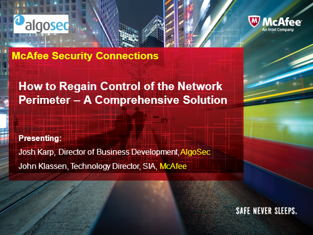 How to Regain Control of the Network Perimeter – A Comprehensive Solution