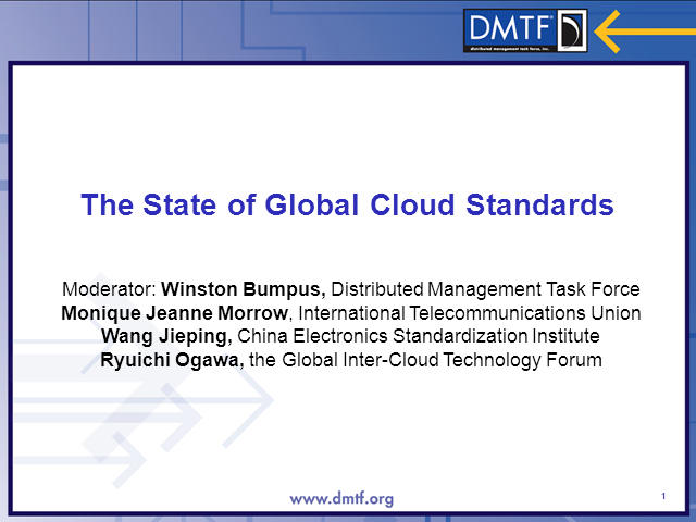 The State of Global Cloud Standards - Panel Session