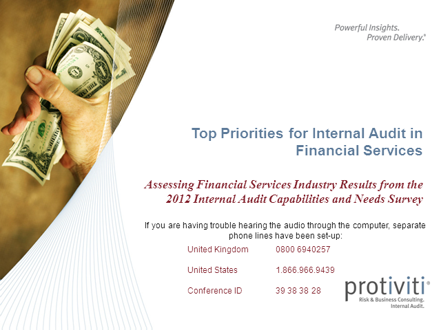 Top Priorities for Internal Audit in Financial Services organizations