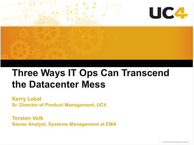Three Ways IT Ops Can Transcend the Datacenter Mess