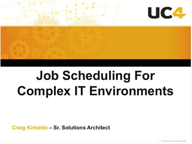 Job Scheduling for Complex IT Environments