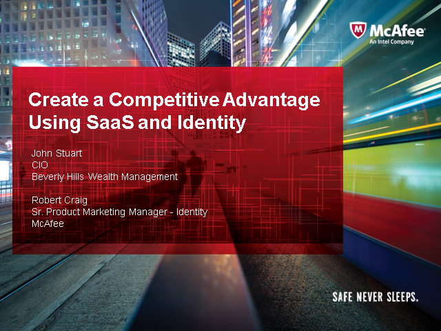 Create a Competitive Advantage Using SaaS and Identity