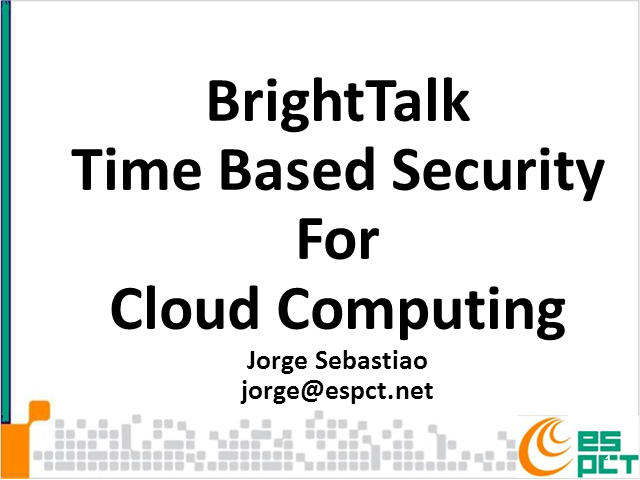 Time Based Security for Cloud Computing