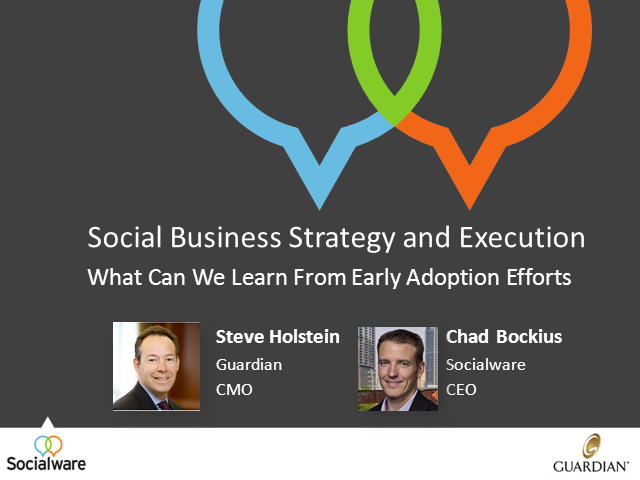 Social Business Strategy & Execution: Learnings From Early Adoption Efforts