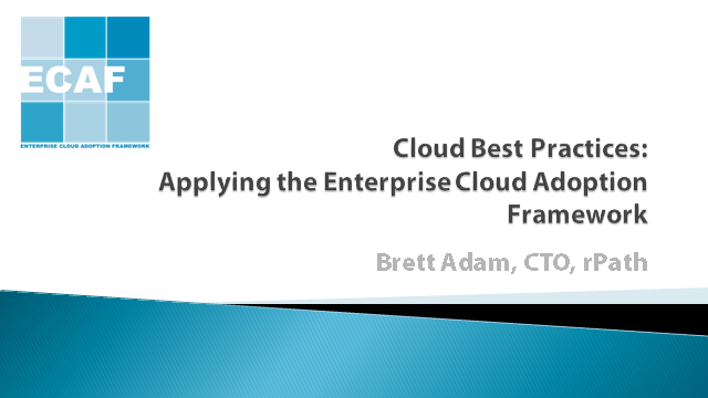 Cloud Best Practices: Applying the Enterprise Cloud Adoption Framework