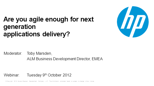 Are you agile enough for Next Generation Application Delivery?