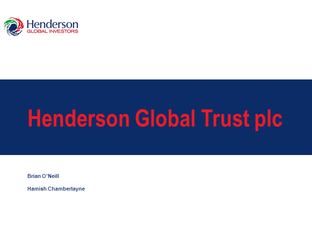 Henderson Global Trust plc - Webcast