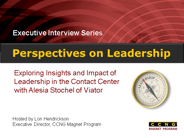 Perspectives on Leadership with Alesia Stochel, Viator