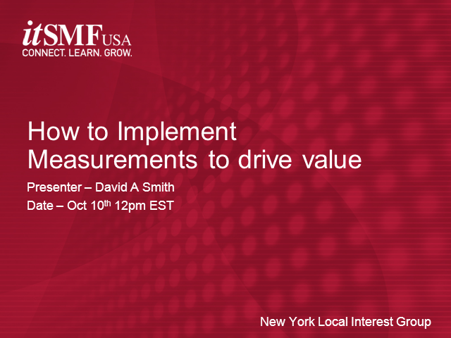 New York Metro LIG | How to Implement Measurements to Drive Value